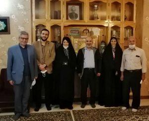 دیدار مدیرعامل بانک قرض الحسنه رسالت با خانواده شهیدان طوقانی