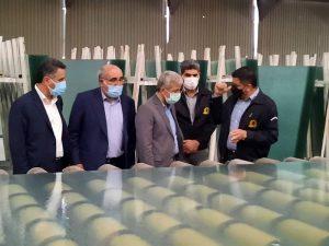 بازدید معاون شعب بانک ملی ایران از دو گروه صنعتی وتولیدی