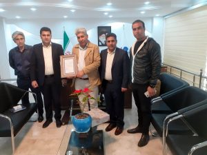 تقدیر از رئیس اسبق انجمن صنفی نمایندگان استان مازندران شرکت بیمه دانا