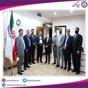 جلسه ی تقدیر از رئیس شعبه برتر بیمه آرمان در قزوین