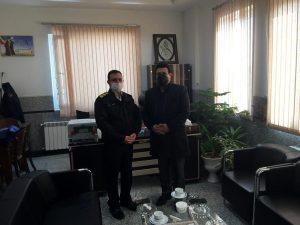 دیدار مدیریت شعبه مرکزی اصفهان بیمه حکمت با رئیس پلیس راهور استان اصفهان