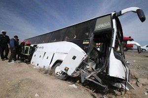 اعلام آمادگى صندوق تامین خسارتهاى بدنى کشور در پى واژگونى اتوبوس خبرنگاران