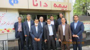 بازدید قائم مقام بیمه دانا و هیات همراه از شعبه مسجد کبود تبریز